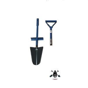 Spaten zwei teilig, 2 tlg. Spaten, zerlegbarer Spaten mit Stecksystem und D-Griff, Blatt aus gehärtetem Stahl